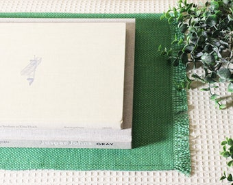 Kelly Green Placemats: Set of 4 // Holiday Placemats
