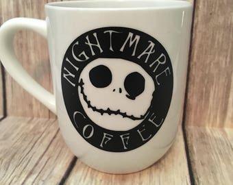 Jack Skellington - Skellington Coffee Cup - Nightmare Coffee Cup Mug - Nightmare Before - Christmas - Kack Skellington Mug - Jack & Sally