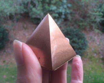 Copper Pyramid Crystal