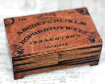 Ouija board trinket box, jewelry box, goth, tarot card box, personalised box, spiritualism, ouija box, keepsake box, occult, Halloween gift