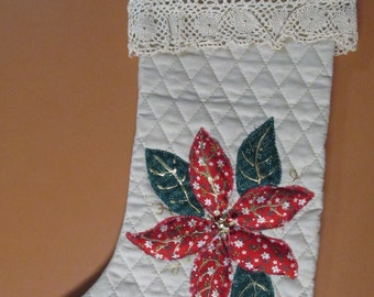 Handmade One of  Kind Christmas stockings.  Your name painted on the cuff.