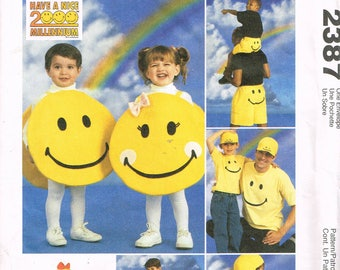 Craft Sewing Pattern - Smiley Face Accessories - Backpack Sewing Pattern - Smiley Face Halloween Costume - Bean Bag Chair - McCalls 2387