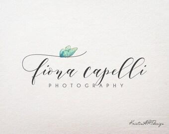 Logo design, Butterfly logo, Photography logo design, Handwritten logo, Brand design, Business logo, Premade logo, Hand-drawn logo 355