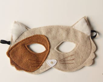 Calico Cat felt mask