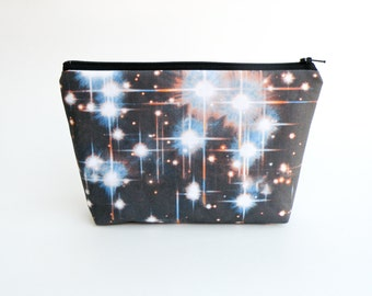 Outer Space Makeup Bag - Galaxy Clutch - Wallet - Hubble Image - Star Pencil Case - Astronomy Space Bag