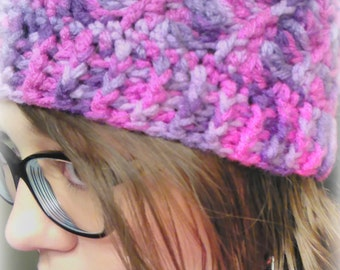 Girly Spiral Beanie - Swirl Winter Hat - Colors of your Choice!