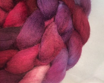 Grape Juice on the White Sofa: Hand-dyed Polwarth 5.7oz