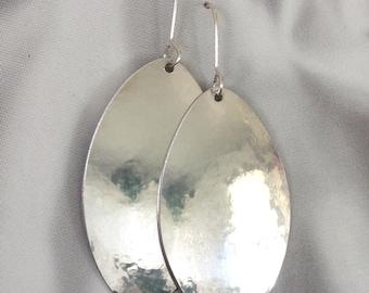 MARANDA Signature Silver Aluminum Oval Dangly Earrings