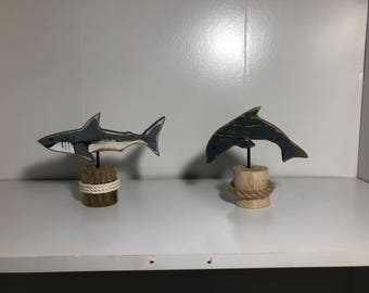 Small Shark or Dolphin Shelf Sitter