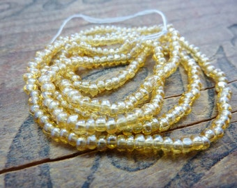 Size 8 Seed Bead Light Topaz Luster Charlotte Seed Bead (1 Strand)