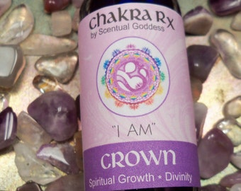 "Crown Chakra Spray ""I AM"" 7th Purple Chakras - Open Your Spiritual Center, Your Connection To The Divine, Spirit & Your Soul or Higher Self"