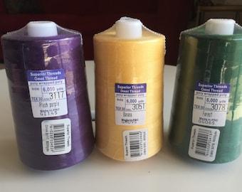Superior Omni 40 weight thread - 7 colors