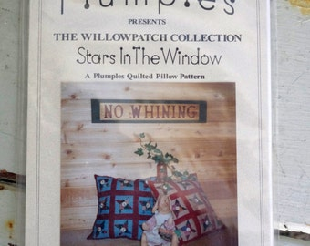 Plumples Stars in the Window Quilted Pillow Pattern