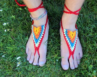 Barefoot Sandals - Southwestern Style - Earthing Grounding Sandals