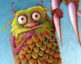 Monster - Kids Wall Art - Monster Art - Baby Monster Print - Cute Monster Print - Playroom Decor - Monster Print