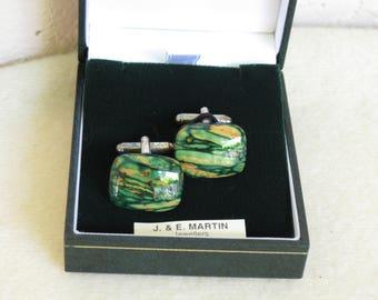 Scottish Heather Cuff Links - Beautiful Hand Made Cuff Links