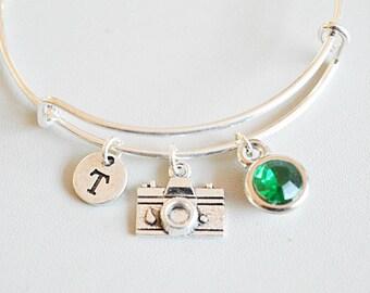 Camera Bracelet, Photography Jewellery, Photographer Gift, Camera Gift, Travel Jewelry, Wedding Photographer Gift, Camera Charm, Traveler