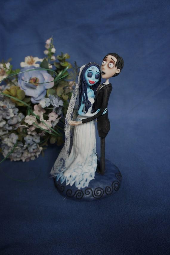 Corpse Bride Wedding cake topper Handmade Cake Topper Tim