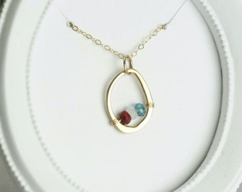 Personalized Gift For Mommy - Birthstone Necklace for Mom - Mom Necklace Gold - Mothers Birthstone Necklace - Gift Ideas for Mom