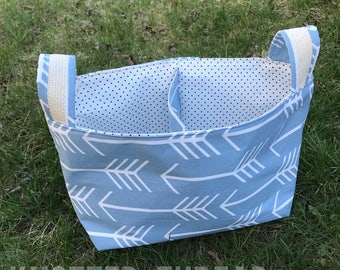 Light Blue Arrow Divided Basket - Home Storage - Nursery Gift - Baby Shower Gift