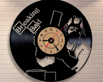 Cook with professional! Breaking Bad art vinyl wall record clock.