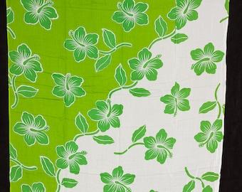 Full Length Hawaiian Print Sarong Or beach Wear. Perfect For Luau, Beach Wear, Sumer Dress, Dancers, Polynesian Events.