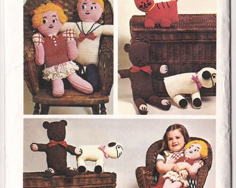 Stuffed Toys Crochet Pattern for Children Quiet Toys for Kids Toy Pattern Crochet Doll Soft Toddler Toy Crochet Sheep Simplicity 6008