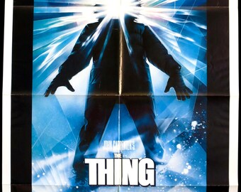 "THE THING ~ U.S. 1 Sheet Movie Poster 1982 ~ Orig. 27""x41"" in VF Cond. ~ Great Drew Struzan Horror Art! Kurt Russell in Carpenter Thriller!"