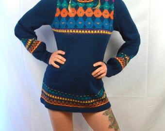 Vintage Organically Grown Cute Sweater Dress by Arpeja