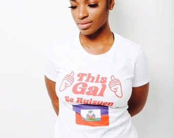 SignatureSoft ThisGal HaitianFlag T-shirts