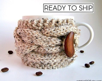 Coffee Cozy, Chunky Knit Coffee Sleeve, Cup Cozy, Coffee Mug Cozy, Coffee Cup Sleeve Coffee Cup Cozy Tea Cozy Hygge Decor Best Selling Items