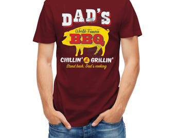 T-shirt Dad's Bbq Barbecue Grillin garden week end 24998