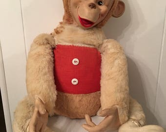 jordan shoes 4 blue and white stuffed animal monkey 80s 813441