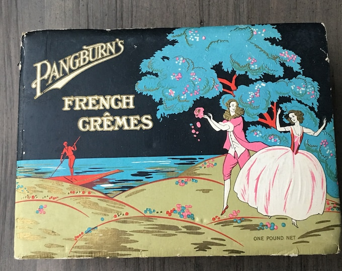 Pangburn's French Cremes Vintage Candy Chocolate Box Art Deco