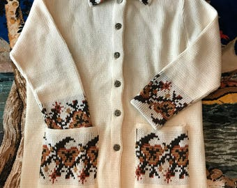 70s JCPenny button up cardigan