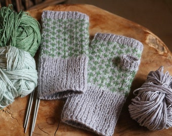 Luxury Cashmere, Silk and Virgin Wool Fingerless Gloves