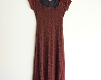 Brown Lace Earthy Long Gypsy Elven Princess Dress (Halloween?)