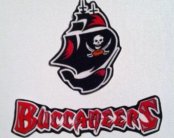 Tampa Bay Buccaneers iron on applique set