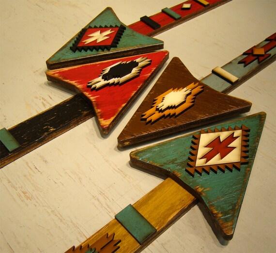 Wooden Arrow Vintage Arrow Rustic Arrow American Indian