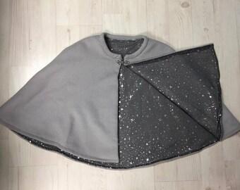 Light Gray Wool Cloak Cape
