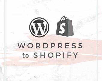 Wordpress to Shopify Web Design