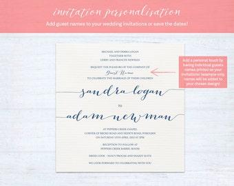 Invitation Personalisation