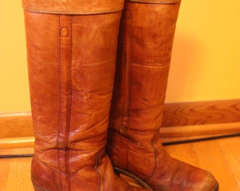 Vintage FRYE 1970's tall campus boots size womens 8B Made in USA 8