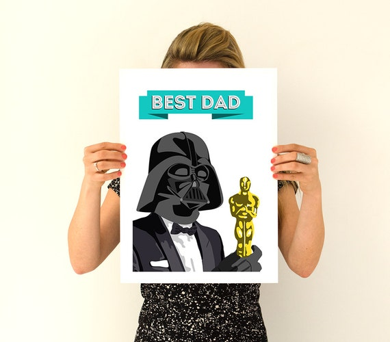 Best dad poster , father gift Wall Art- Star wars inspired Art,Hanging star wars ,Geek art gifts for him TVH241WA3