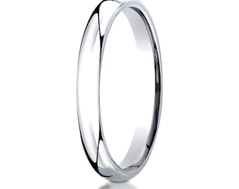 14kt White Gold Comfort Fit Wedding Ring 3mm, 3mm Wedding band, 3mm Wedding Ring, Comfort fit band, 3mm comfort fit