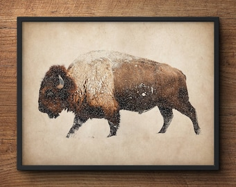 Bison wall art, Buffalo print, Bison photography, Bison photo print, Buffalo wall art, Buffalo print, Buffalo photography, Large wall art