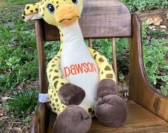 Personalized Stuffed Animal, Monogrammed Stuffed Animal, Monogrammed Cubbies,Cubbies Stuffed Animal, giraffe, monkey, lion,zebra, elephant.