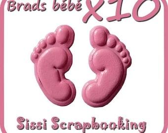 SET SCREW FEET BABY PINK SCRAPBOOKING ALBUM BABY GIRL