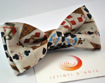 Handmade bow tie for men made up of silk and satin