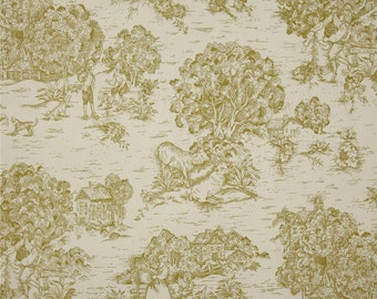 Quaker Meadow pastoral cotton fabric by the yard toile Magnolia Home Fashions
